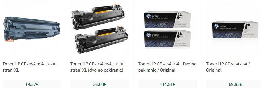 Tonerji HP 285A 85A