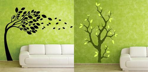 Drevo kot stenska nalepka