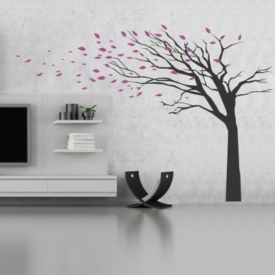 Stenska nalepka - Drevo z odpadajočimi listi