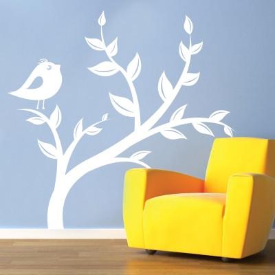 Stenska nalepka - Ptič na veji