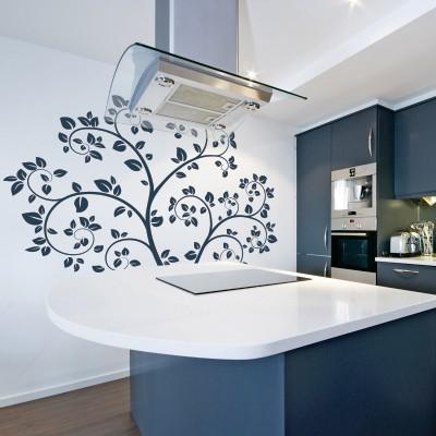 Stenska nalepka - Zavito drevo