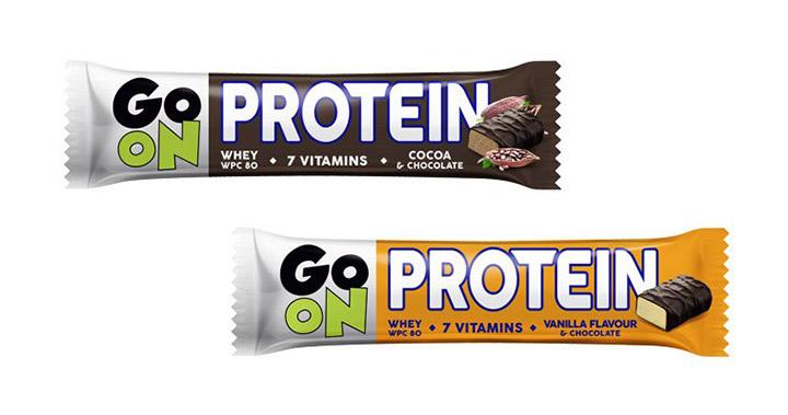 Beljakovinske ploščice GO ON - čokolada in vanilija